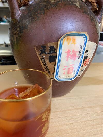 姫路 うどん 三七十庵 自家製 梅酒