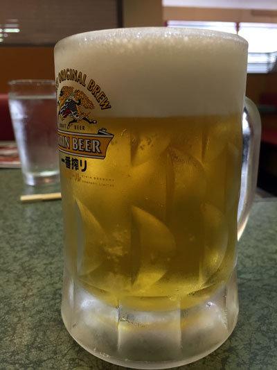 東二見 焼き肉 のむらや 生ビール