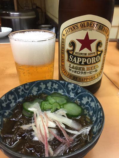 姫路 お食事処 福十食堂 ビール