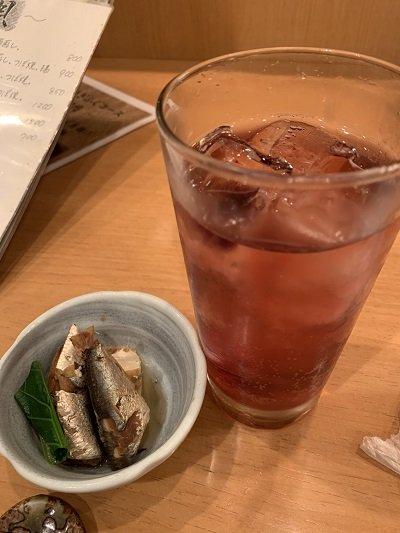 神戸 磯魚料理 いわし屋 カシスチューハイ