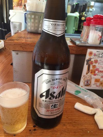 姫路 立呑み 英洋軒 瓶ビール
