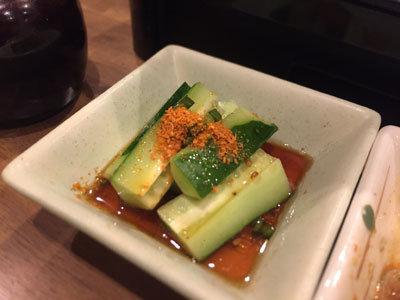姫路 韓国料理 はるばる キュウリ