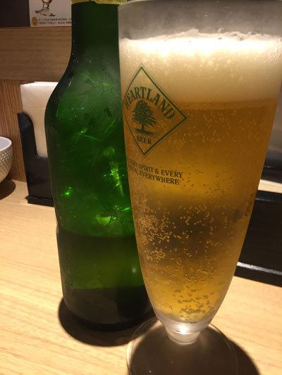 姫路 ラーメン 麺哲 瓶ビール ハートランド