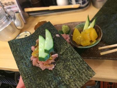 姫路 山陽電車高架下 立ち飲み 魚屋 トロたく