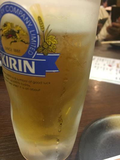 神戸 新長田 居酒屋 山八 生ビール