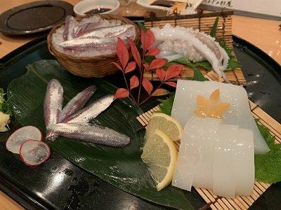 神戸 磯魚料理 いわし屋 お造り盛り合せ