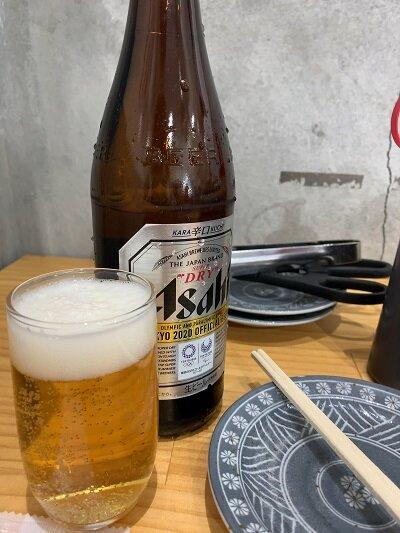 姫路 肉家まるまさ 瓶ビール