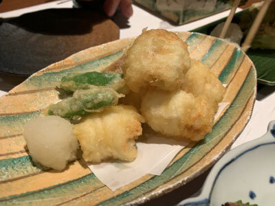 姫路 播磨旬菜 菊屋 穴子の天ぷら