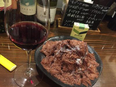 姫路 wine space kagen 台湾かき氷 チョコレート