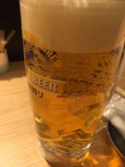 姫路 立呑み 卯の助 生ビール 199円