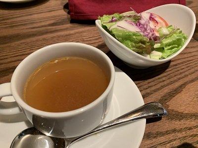 大阪 ルクア ニュー・ミュンヘン ランチ サラダ