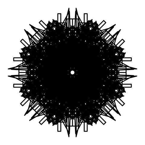 レースっぽい模様01(円形)100