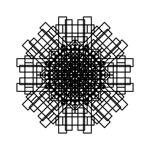 レースっぽい模様01(円形)035