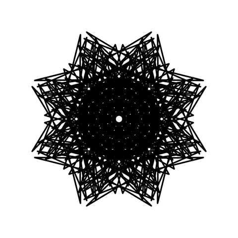 レースっぽい模様01(円形)005