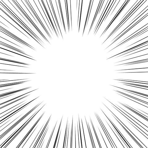 集中線 濃いめ(正方形)006