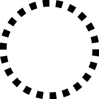 背景屋のツイッター用 円形装飾枠(市松模様)002