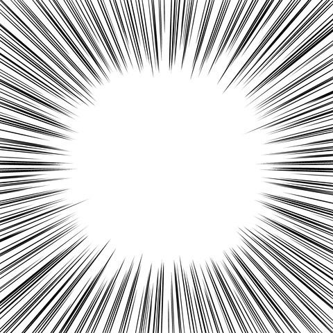集中線 濃いめ(正方形)008