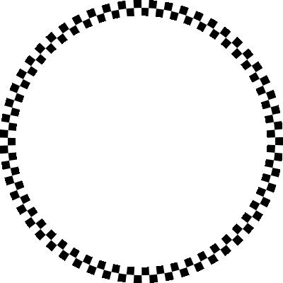 背景屋のツイッター用 円形装飾枠(市松模様)003