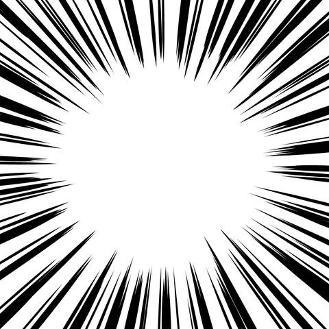 集中線 濃いめ(正方形)009