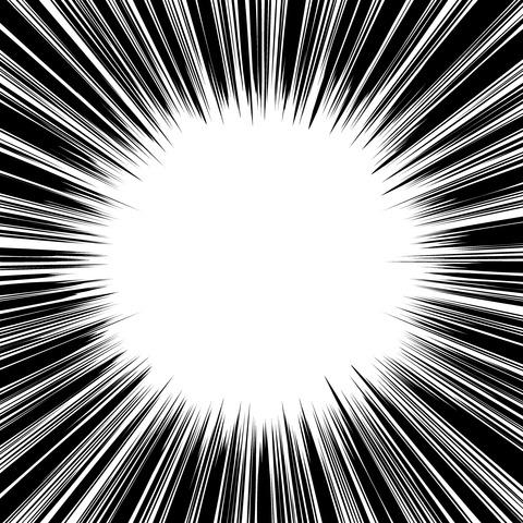集中線 濃いめ(正方形)004