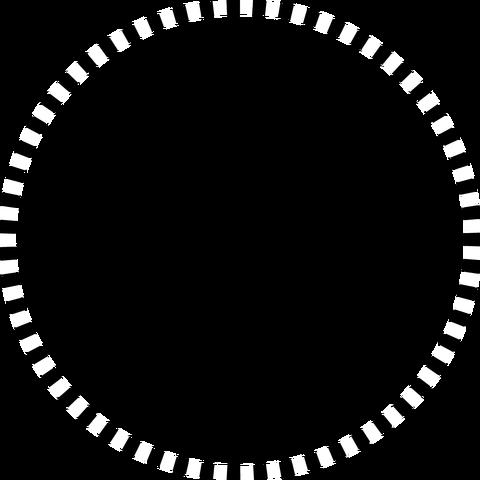 背景屋の円形装飾枠(市松模様)001