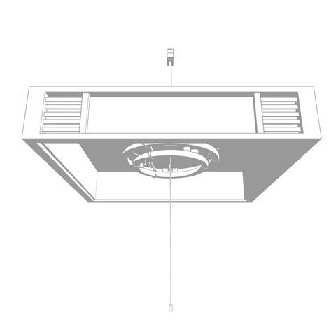 天井照明-和風の傘-円形の傘_トーン化01