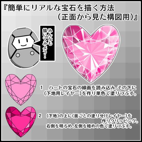 リアルな宝石を描く方法01