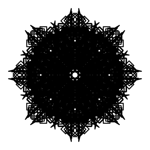 レースっぽい模様01(円形)078