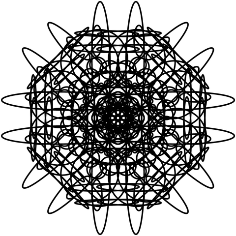 レースっぽい模様01(円形)023