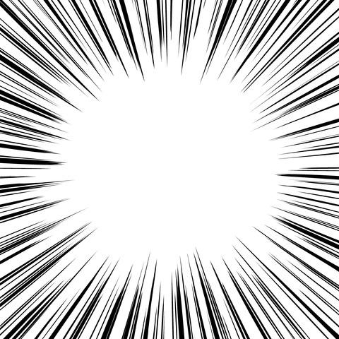 集中線 濃いめ(正方形)001