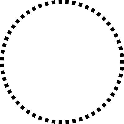 背景屋のツイッター用 円形装飾枠(市松模様)001