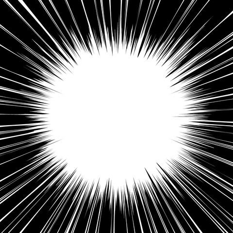 集中線 濃いめ(正方形)005