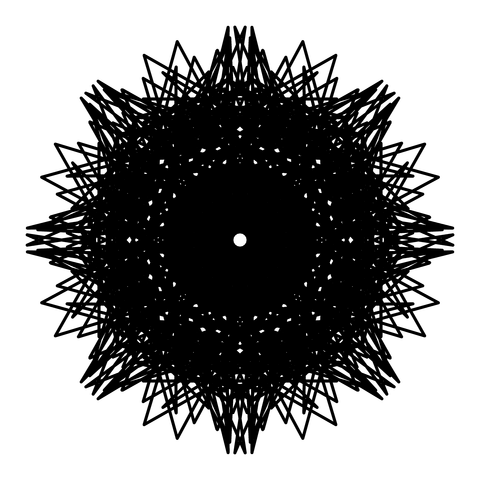 レースっぽい模様01(円形)071
