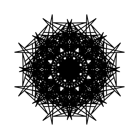 レースっぽい模様01(円形)009