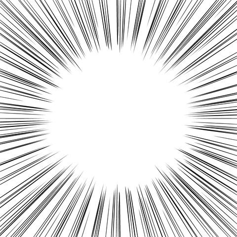 集中線 濃いめ(正方形)007