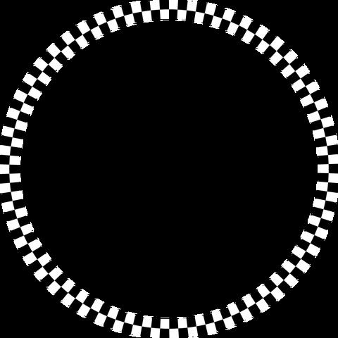 背景屋の円形装飾枠(市松模様)003