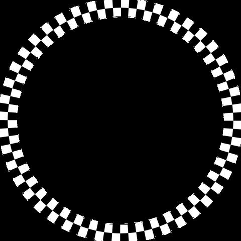 背景屋の円形装飾枠(市松模様)004