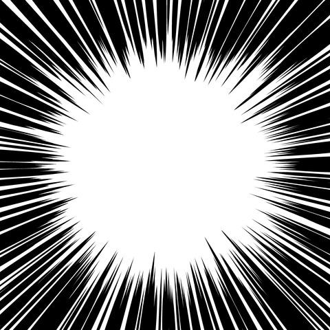 集中線 濃いめ(正方形)010