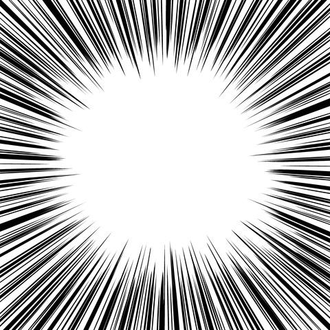 集中線 濃いめ(正方形)002