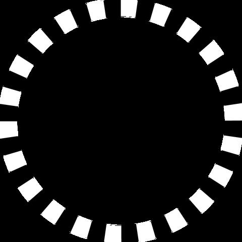 背景屋の円形装飾枠(市松模様)002