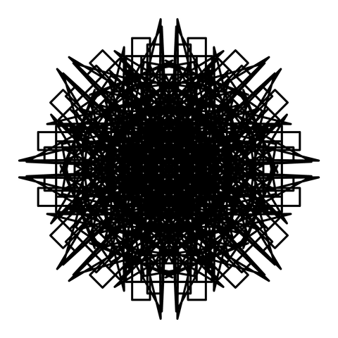 レースっぽい模様01(円形)091