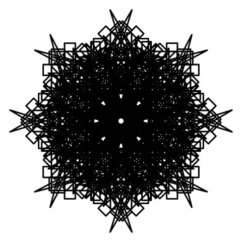 レースっぽい模様01(円形)056