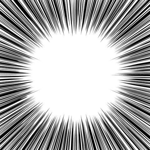 集中線 濃いめ(正方形)003