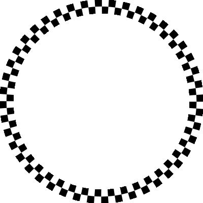 背景屋のツイッター用 円形装飾枠(市松模様)004
