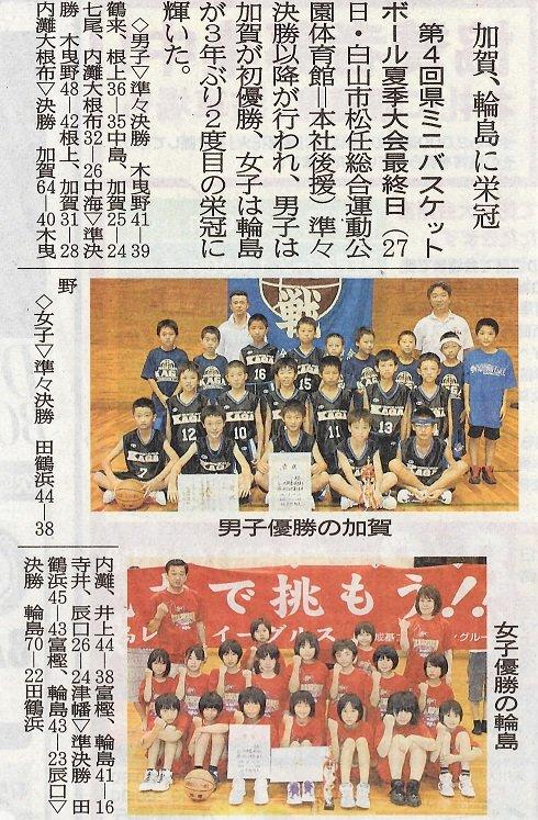 石川県館野ミニバスケットボールクラブ監督のblog