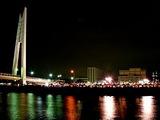 戸田公園大橋,戸田漕艇場,つり橋,夜景