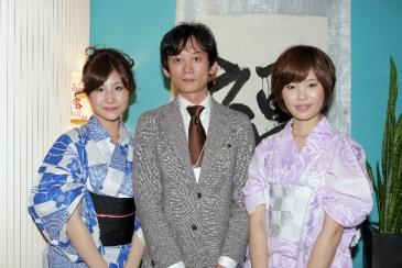 書道家姉妹 朝凪さん夕凪さんと松、フーダーズにて
