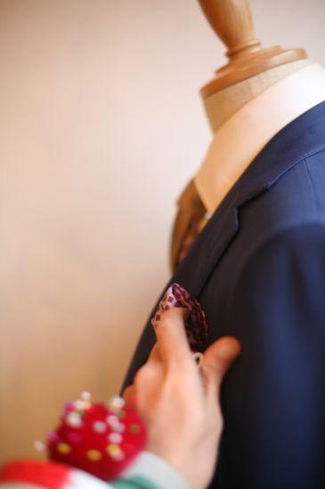 オーダースーツとポケットチーフ
