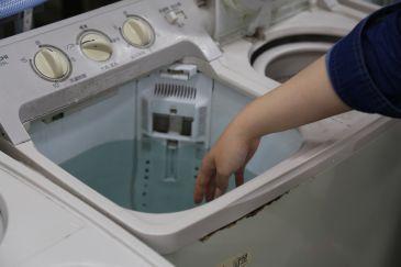 クリーニング 裏側 水洗い2