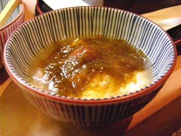 京都割烹かつ竹のもずく雑炊